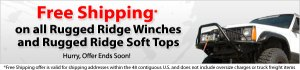 FREE SHIPPING ~ Rugged Ridge Winches ~ Rugged Ridge  Soft Tops