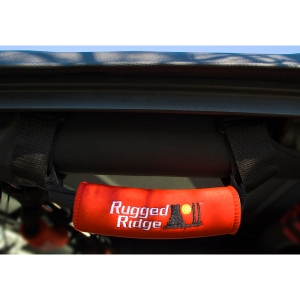 GRAB HANDLE PAIR NEOPRENE REAR COVER RED 07-10